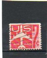 ETATS-UNIS       7 C De Carnet     1960   Pas Sur Y&T   Scott: C60a  Poste Aérienne  Haut Non Dentelé     Oblitéré - 2a. 1941-1960 Gebraucht