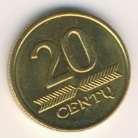 LIETUVA 1999: 20 Centu, KM 107 - Lithuania