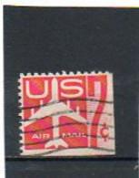 ETATS-UNIS    7 C De Carnet  1960   Pas Sur Y&T   Scott: C60a  Poste Aérienne  Bas Et Coté Droit Non Dentelés   Oblitéré - 2a. 1941-1960 Gebraucht