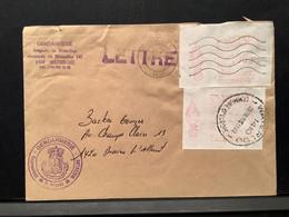 Briefomslag 1990 WATERLOO Gendarmerie Gefrankeerd 33 BEF M.b.v. Machinefrankering - 1980-99