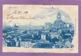 BRUXELLES - PANORAMA VERS 1899. EDGAR SCHMIDT,DRESDEN,BUDAPEST. - Cartas Panorámicas