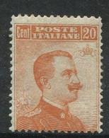 REGNO 1916 20 C. SASSONE N. 107 ** MNH - Ungebraucht