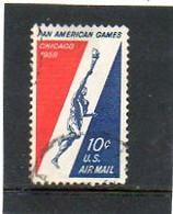 ETATS-UNIS   10 C   1959    Y&T : 54   Poste Aérienne   Oblitéré - 2a. 1941-1960 Gebraucht