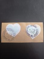 Les Coeurs De Courrèges Sur Fragment - 2016 - Used Stamps