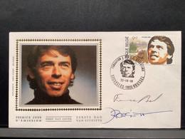 1988 - JACQUES BREL - 3 Briefomslagen Met Gelegenheidafstempeling En Signaturen - 1980-99