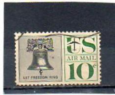ETATS-UNIS   10 C   1960    Y&T : 56   Poste Aérienne   Oblitéré - 2a. 1941-1960 Gebraucht