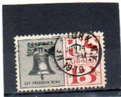 ETATS-UNIS   13 C   1961    Y&T : 57   Poste Aérienne   Oblitéré - 2a. 1941-1960 Gebraucht