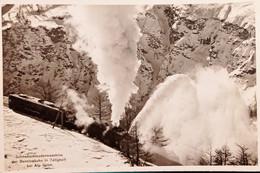 Cartolina - Schneeschleuder Maschine Der Berninabahn In Tätigkeit - 1950 Ca. - Sin Clasificación