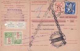 Carte Récépissé Roulette Retour Terug Impayé Onbetaald 683 419 Timbre Fiscal Vignette Se Présentera Au Bureau Zal Op Het - Cartas