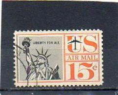 ETATS-UNIS   15 C   1959   Y&T : 58   Poste Aérienne   Oblitéré - 2a. 1941-1960 Gebraucht