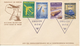 Paraguay FDC 10-4-1961 Paraguay En Marcha Cover With 4 Stamps And Cachet - Paraguay