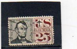 ETATS-UNIS   25 C   1960   Y&T : 60   Poste Aérienne   Oblitéré - 2a. 1941-1960 Gebraucht