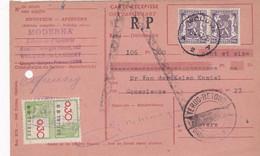 Carte Récépissé Roulette Retour Terug Impayé Onbetaald Paire 714 Timbre Fiscal RP - Cartas