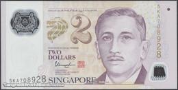 TWN - SINGAPORE 46g - 2 Dollars 2015 Polymer - Prefix 5KA - Signature: Tharman Shanmugaratnam UNC - Singapore
