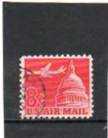 ETATS-UNIS   8 C   1962   Y&T : 61   Poste Aérienne   Oblitéré - 2a. 1941-1960 Gebraucht