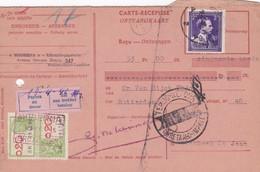 Carte Récépissé Roulette Retour Terug Impayé Onbetaald 693 Timbre Fiscal Vignette Payera Au Tireur Zal Aan Trekker ... - Cartas