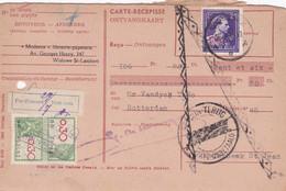 Carte Récépissé Roulette Retour Terug Impayé Onbetaald 724s Timbre Fiscal Vignette Pas D'accord Niet Eens - Cartas