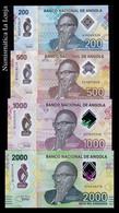 Angola Set 200 500 1000 2000 Kwanzas 2020 Pick New Polymer SC UNC - Angola