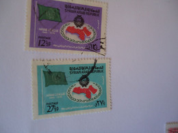 SYRIA  USED   STAMPS   FLAGS - Siria