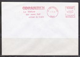 69 Lyon, EMA CORAIL La Voiture Qui Vous Fait Aimer Le Train 1976 (ref L324) - Affrancature Meccaniche Rosse (EMA)