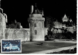 CM FRANCE 1962 VANNES REMPARTS ILLUMINES - 1960-69