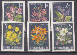 K3728 - AUSTRIA Yv N°1044/49 ** FLEURS FLOWERS - 1961-70 Nuevos & Fijasellos