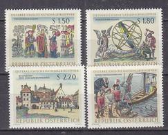 K3729 - AUSTRIA Yv N°1054/57 ** BIBLIOTHEQUE NATIONALE - 1961-70 Nuevos & Fijasellos
