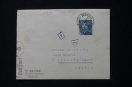 BELGIQUE - Enveloppe De Bruxelles Pour La France En 1941 En Poste Restante Avec Contrôle Postal  - L 90836 - Cartas