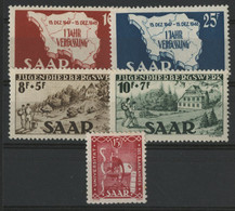 SARRE / SARR N° 248 à 252 Neufs * (MH) Cote 15 €. TB - Unused Stamps