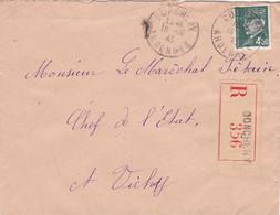 ARDENNES DONCHERY - LETTRE RECOMMANDÉE D'OFFICE > MARECHAL PETAIN A VICHY - OBL 16/10/43 WW2 - Lettres & Documents