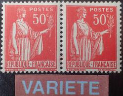 R1491/119 - 1932/1933 - TYPE PAIX - PAIRE HORIZONTALE ➤➤➤ N°283n (TYPE I) Tenant Au N°283 (TYPE III) TIMBRES NEUFS** - Varieteiten: 1931-40 Postfris