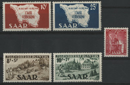 SARRE / SARR N° 248 à 252 Neufs ** (MNH) Cote 24 €. TB - Unused Stamps