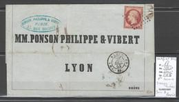 France - Yvert 18 - Napoléon 1 Franc Carmin - 1853 - Paris Bureau B - 1849-1876: Classic Period