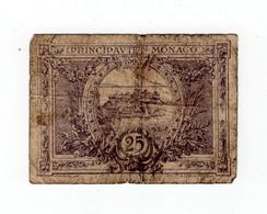 Rare 25 Centimes 1920 Monaco - Monaco
