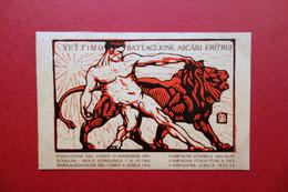 Cartolina VII° Battaglione Ascari Eritrei 1915 Viaggiata Italia Colonie Grafica - Andere