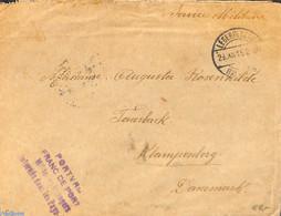 Netherlands 1916 Military Post From LEGERPLAATS BIJ SOEST To Klampenborg Denmark, (Postal History), Stamps - Postal History
