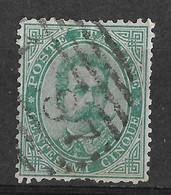 Italy 1879, Gangi/Sicilia, Sicily 1087...? Numerale/Numeral Postmark. Umberto I. 5C. Mi 37A/Sc 45. Used. - Gebraucht