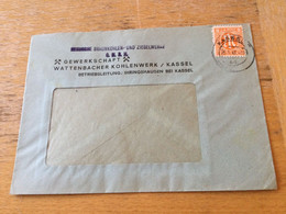 K17 Alliierte Besetzung 1946 Ortsbrief Von Kassel Wattenbacher Kohlenwerk Bergbau - Zona Anglo-Americana