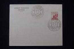 FRANCE / ALGÉRIE - Oblitération De L 'Assemblée Consultative Provisoire En 1943 D'Alger Sur Enveloppe - L 90847 - Lettres & Documents