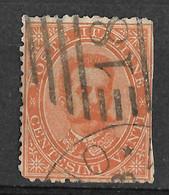 Italy 1879 Milano Railway/Milano Ferrovia 181 Numerale/Numeral Postmark. Umberto I. 20C. Mi 39/Sc 47. Used. - Gebraucht