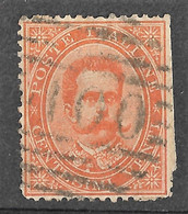 Italy 1879 Lucera/Puglia, Apulia 100 Numerale/Numeral Postmark. Umberto I. 20C. Mi 39/Sc 47. Used. - Gebraucht