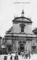BESANCON - Eglise Saint-Maurice (Sortie De Messe) - N° 12. Circulée En 1912. Bon état. - Besancon