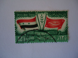 SYRIA U.A.R . USED    STAMPS  FLAGS - Siria
