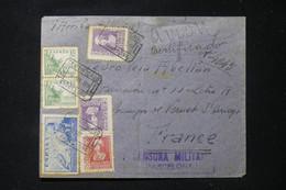 ESPAGNE - Enveloppe En Recommandé De Barcelone Pour La France En 1939 Avec Cachet De Censure - L 90853 - 1931-50 Briefe U. Dokumente
