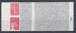 2003 France, Y&T N°30 Et 36 Adhésifs Sur Carnet (incomplet) - Adhésifs (autocollants)
