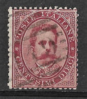 Italy 1879 Napoli / Naples 19 Numerale/Numeral Postmark. Umberto I. 10C. Mi 38A/Sc 46. Used. - Gebraucht
