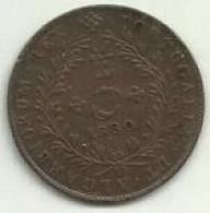 S-5 Réis 1880 D. Luis I Açores - Azores