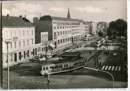 Tram/Strassenbahn Krefeld,Ostwall,VW Käfer,Opel Olympia Rekord+P II, Gelaufen - Tramways