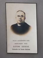 Bidprentje E.H.Deneve Alfons °Houtvenne 1873 Verl Heikruis 1940 Pastoor Mechelen Bonheiden Buizingen - Todesanzeige
