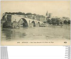 84 AVIGNON. Le Pont Saint-Bénézet Et Le Palais Des Papes 1916 - Avignon